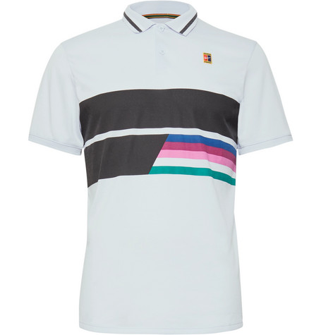 Nike Tennis NikeCourt Advantage Printed DRI-Fit Tennis Polo Shirt