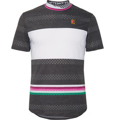 Nike Tennis - NikeCourt Challenger Slim-Fit Striped Dri-FIT Tennis T-Shirt