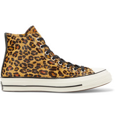 Converse 1970s Chuck Taylor All Star Leopard-Print Faux Calf Hair High-Top Sneakers