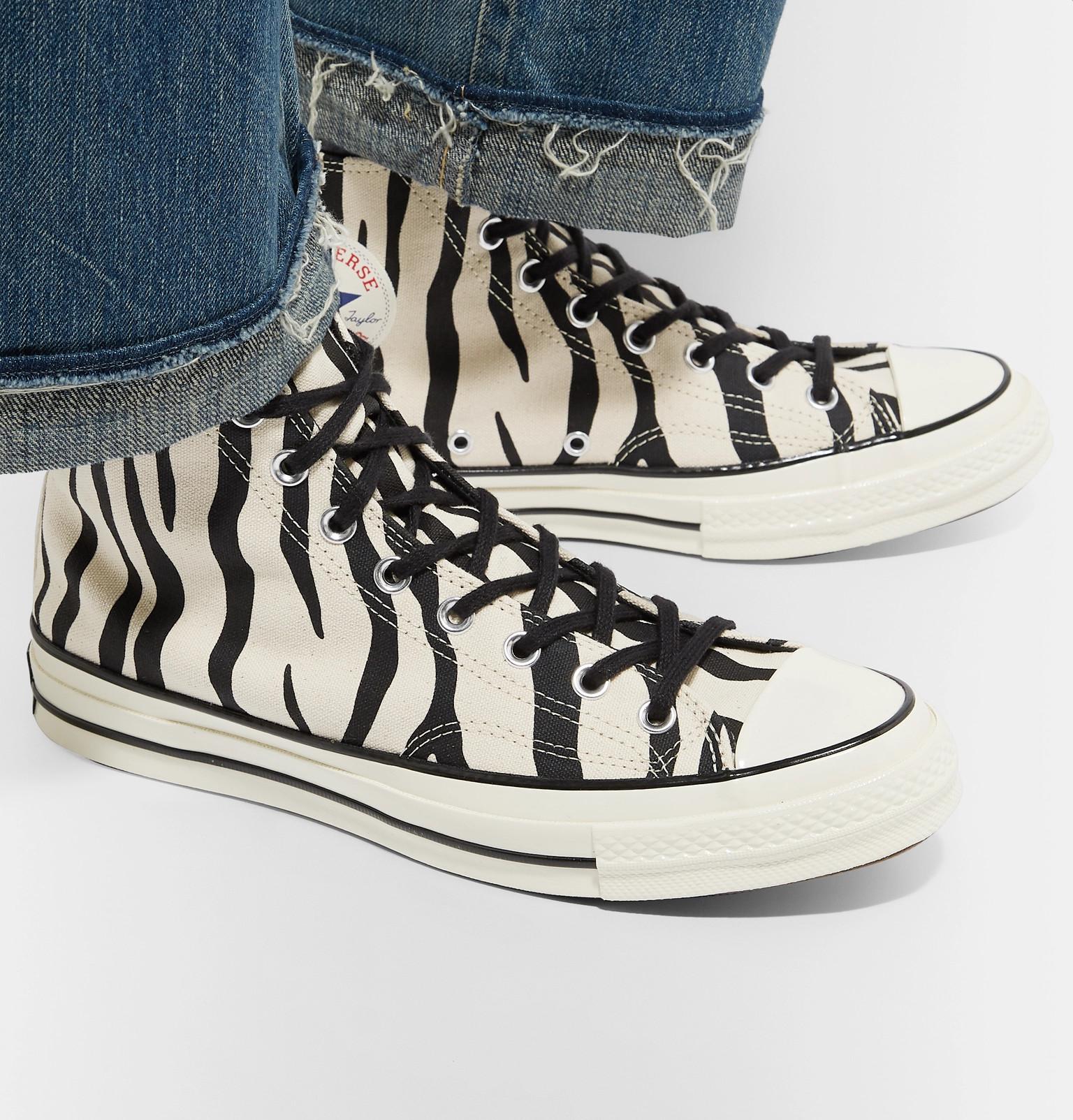 050e64a6889c Converse1970s Chuck Taylor All Star Zebra-Print Canvas High-Top Sneakers