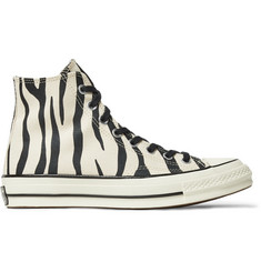 Converse 1970s Chuck Taylor All Star Zebra-Print Canvas High-Top Sneakers