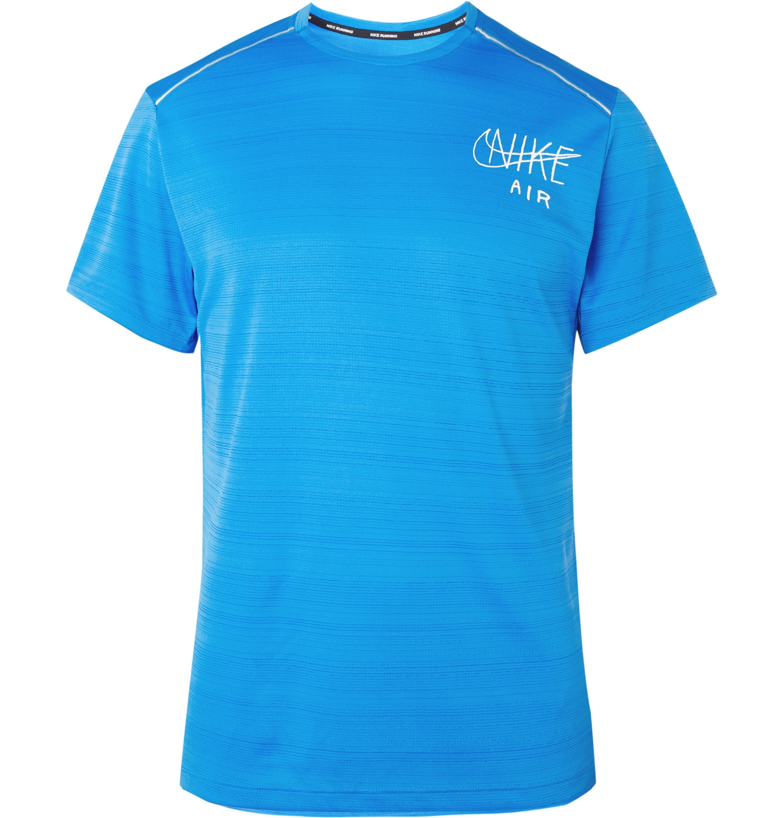 Nike Running Miler Logo Print Dri Fit T Shirt