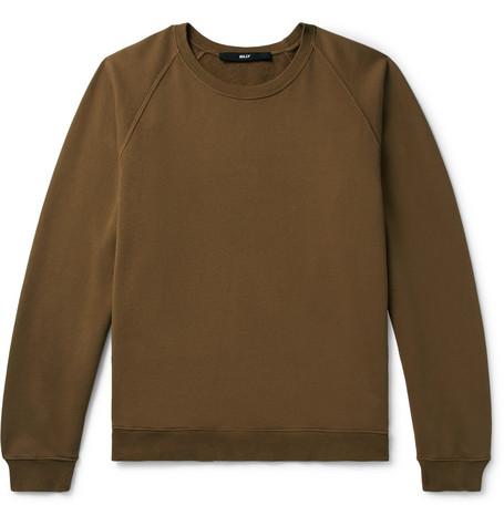 BILLY Loopback Cotton-Jersey Sweatshirt in Brown