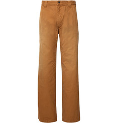 BILLY Wide-Leg Cotton-Twill Trousers