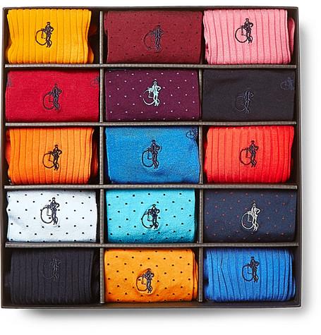 London Sock Co. 15-Pack Cotton-Blend Socks in Multi