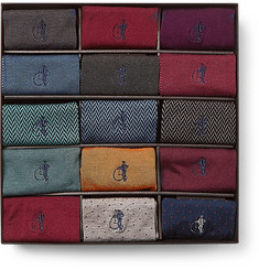 London Sock Co. - 15-Pack Cotton-Blend Socks