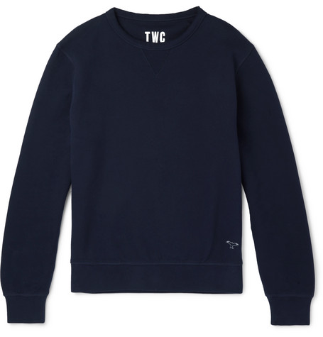 THE WORKERS CLUB Fleece-Back Cotton-Jersey Sweatshirt