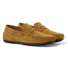 Tod's - City Gommino Suede Penny Loafers