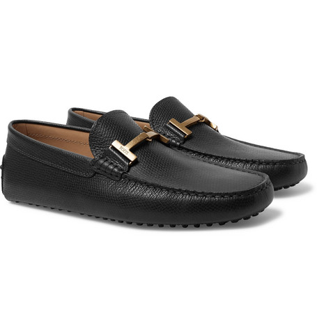 Full-grain Leather Loafers - Black