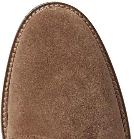 Suede Derby Shoes - Light brown