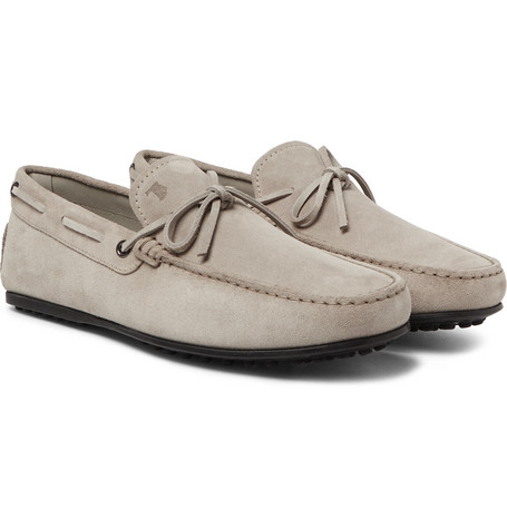 City Gommino Suede Loafers - Gray