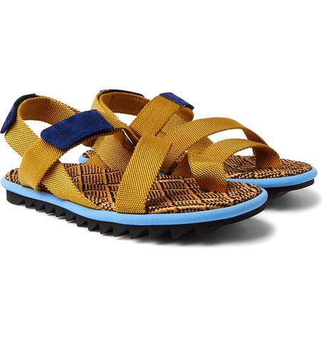 372b4833e86c Dries Van Noten - Suede-Trimmed Webbing Sandals