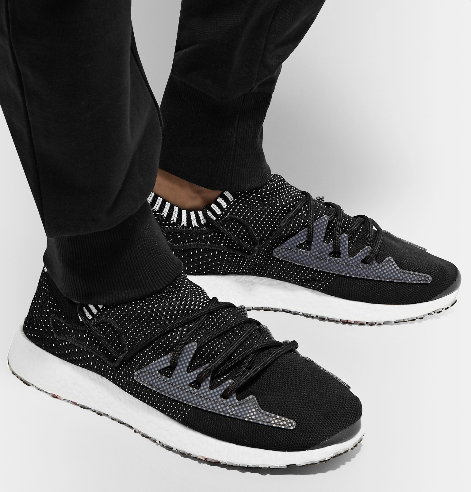 d1531936a Y-3Raito Racer Stretch-Knit Sneakers