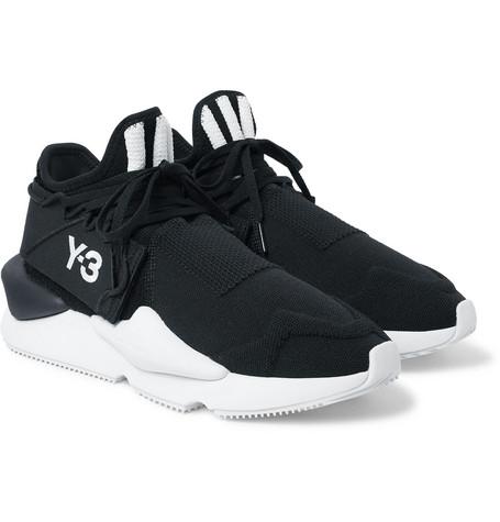 4413e91aaa4d6 Y-3 Kaiwa Knit Black Nylon Men s Sneakers