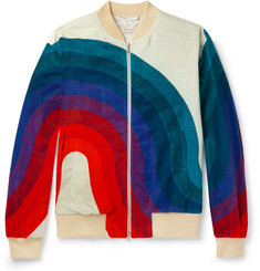 Dries Van Noten Cotton-Velvet Jacquard Bomber Jacket