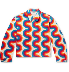 Dries Van Noten Printed Denim Jacket