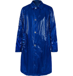 Dries Van Noten Creased-PVC Coat