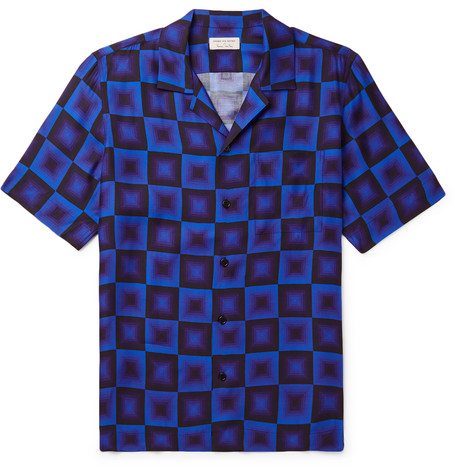 Camp Collar Printed Woven Shirt by Dries Van Noten