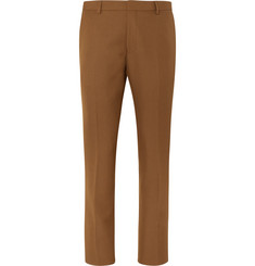 Dries Van Noten Camel Slim-Fit Cropped Wool-Blend Twill Suit Trousers