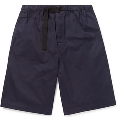 Dries Van Noten Wide-Leg Cotton-Drill Drawstring Shorts