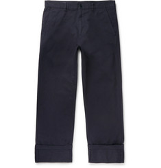 Dries Van Noten Navy Cotton-Twill Trousers