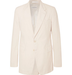 Dries Van Noten Off-White Slim-Fit Unstructured Cotton-Twill Suit Jacket