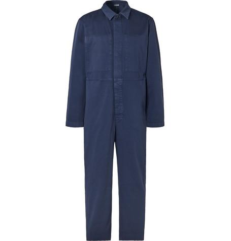 Dries Van Noten Cotton-twill Boiler Suit - Navy