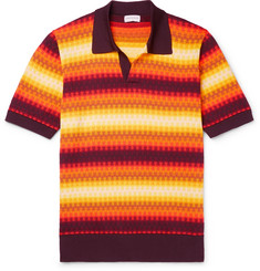 cdf6f46cfa7 Dries Van Noten Slim-Fit Jacquard-Knit Polo Shirt