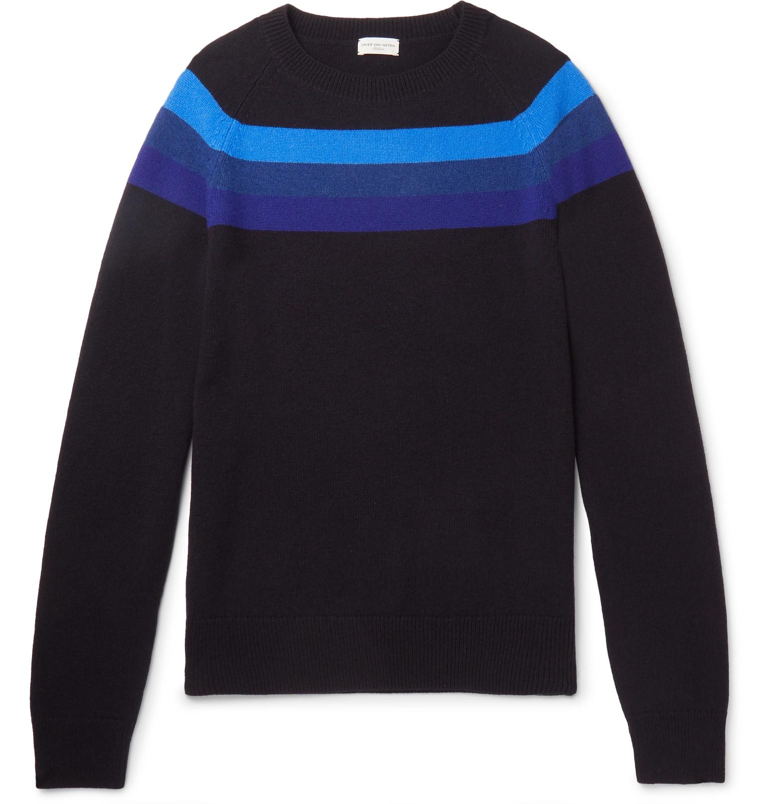 5a2660dfa3219b Dries Van Noten - Striped Merino Wool Sweater