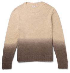 Dries Van Noten Oversized Ombré Cotton Sweater