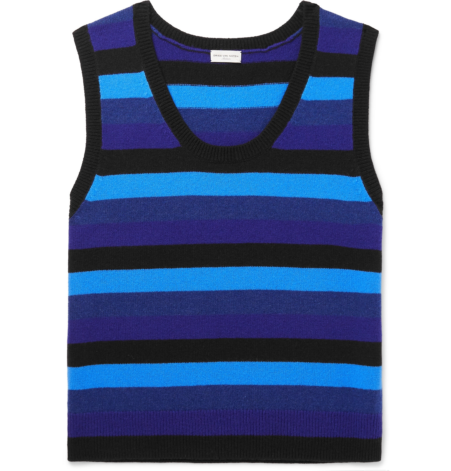 98c08f70b14ae6 Dries Van Noten - Striped Merino Wool Sweater Vest