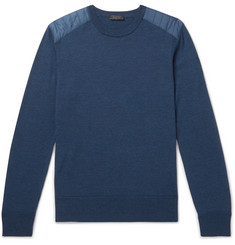 Belstaff Kerrigan Nylon-Panelled Wool Sweater