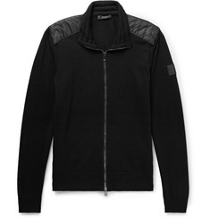 Belstaff Kelby Slim-Fit Quilted Shell-Panelled Virgin Wool Zip-Up Cardigan