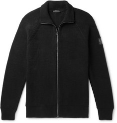 Belstaff Slim-Fit Ribbed Cotton Zip-Up Cardigan