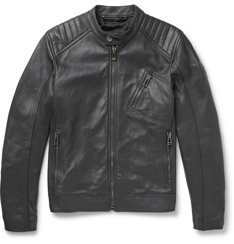 V Race Leather Jacket by Belstaff