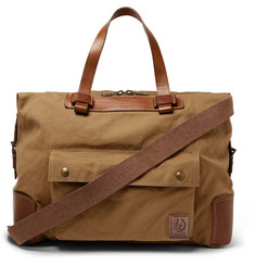 Belstaff Colonial Leather and Canvas Duffle Bag