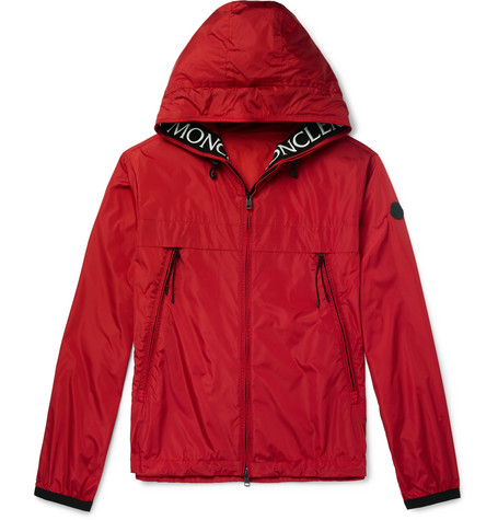 Massereau Logo Embroidered Hooded Shell Jacket by Moncler