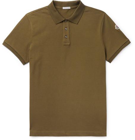 Cotton Piqué Polo Shirt by Moncler