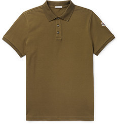 Moncler Cotton-Piqué Polo Shirt