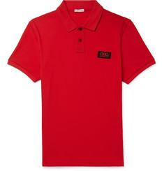 1e2681c18d31 Moncler Slim-Fit Logo-Appliquéd Cotton-Piqué Polo Shirt