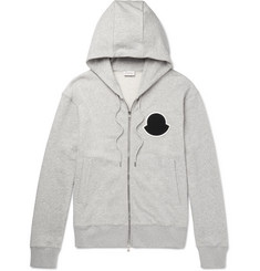 Moncler Mélange Loopback Cotton-Jersey Zip-Up Hoodie