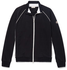 Moncler Loopback Stretch-Cotton Jersey Track Jacket