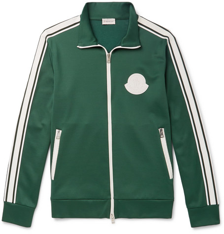 bfad2c991 Moncler - Striped Jersey Track Jacket