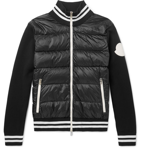 437541807a9 Moncler - Slim-Fit Quilted Shell and Jersey Down Jacket