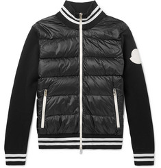 Moncler - Slim-Fit Quilted Shell and Jersey Down Jacket