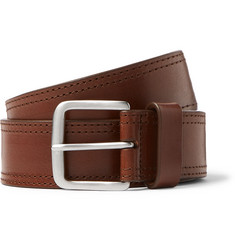 Dries Van Noten 3.5cm Brown Leather Belt