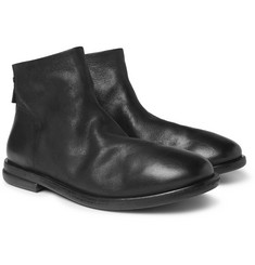Marsell Stag Leather Chelsea Boots