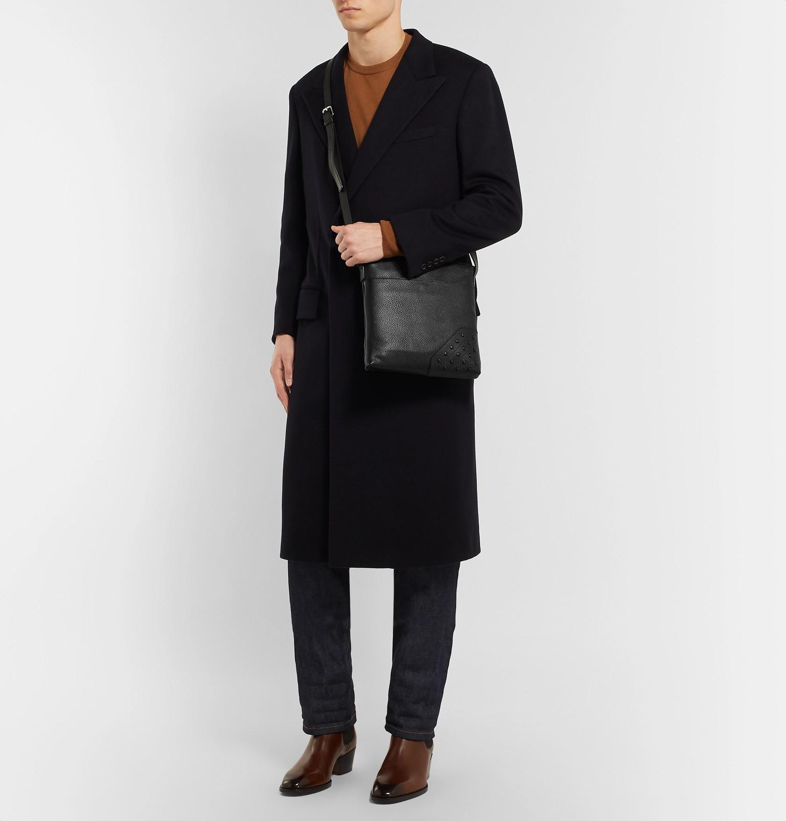 Messenger Gommini Bag Full Grain Leather Reporter Tod's 5XxwFq08