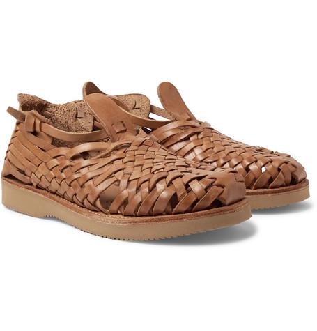 12abdf911f8e Yuketen - Cruz Woven Leather Huarache Sandals