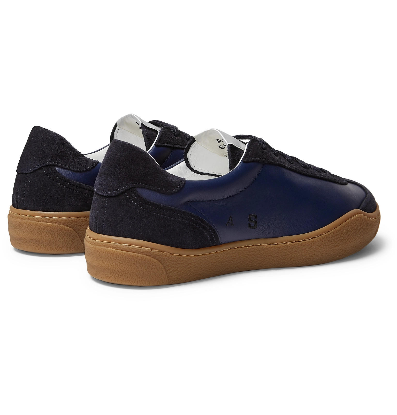 600a2114f7cb Acne Studios - Lars Suede and Leather Sneakers